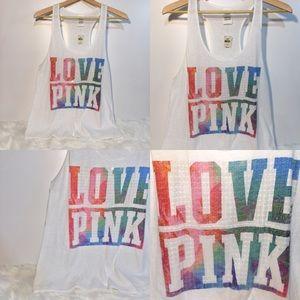 NEW Victoria's Secret LOVE PINK Sequin Tank Top L